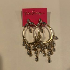 Lilly Pulitzer Gold & Crystal Earrings!